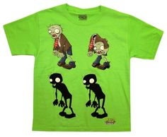 Amazon.com: Plants Vs Zombies Zombie Lineup Popcap Video Game Youth T-Shirt Tee: Clothing