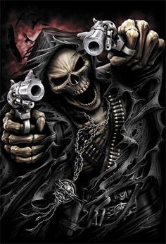 Grim Reaper Assasin Skull Vinyl Decal Sticker Motorcycle Tank Cover Toolbox | eBay