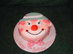 #clown face cake made by The Maldon Cake Company