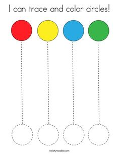 I can trace and color circles Coloring Page
