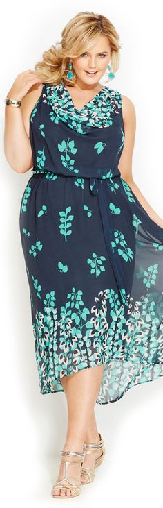 Navy Leaf Print Dress. Saw this dress in the Avenue. Really looks and feels like summer!