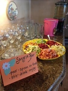 MeetNaomiElizabeth:Created by an elementary teacher: Easy, quick and inexpensive cooking ideas; Bridal Shower Sangria bar