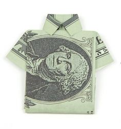 Easy DIY origami money shirt tutorial (paper folding) // Origami ing - papírpénz hajtogatás (kreatív ajándék fiúknak) // Mindy - craft tutorial collection