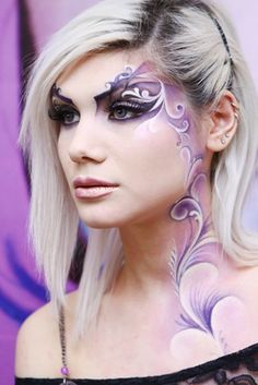Fantasy Makeup. Fairy make-up idea.
