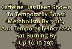 Coffee improves metabolism & help lose weight #coffee #caffeine #metabolism #weightloss