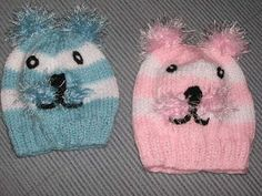 FREE PATTERN...Knitting Galore: Little Kitty Baby Beanie