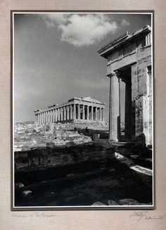 Αθήνα, Παρθενών, π. 1929 Parthenon Athens, Acropolis, Greece, Artwork, Painting, Athens, Europe, Greece Country, Work Of Art