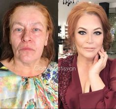 Incredible Before-And-After Pics Reveal The Power Of Makeup By Goar Avetisyan Makeup Tips, Beauty Makeup, Eye Makeup, Hair Makeup, Hair Beauty, Beauty Makeover, Makeup Makeover, Ursula Makeup, Celebs Without Makeup