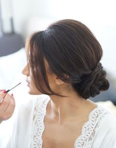 Low Bun Upstyle   Wedding Hair Inspiration   Bridal Musings Wedding Blog