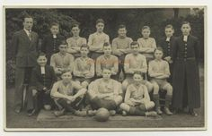 School Football, Football Team, Grammar School, Vintage Postcards, British, Reading, Vintage Travel Postcards, Reading Books, England