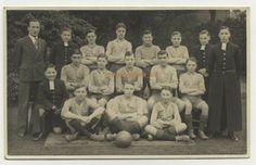 School Football, Football Team, Grammar School, Vintage Postcards, British, Reading, Vintage Travel Postcards, Football Squads, Reading Books