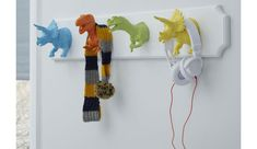 Fun hooks are a useful place for your kids to hang up their coats and dresses … - DIY Kinderzimmer Ideen Kids Bedroom Boys, Big Boy Bedrooms, Childs Bedroom, Boy Rooms, Gloss Spray Paint, Magazine Deco, Dinosaur Nursery, Boys Dinosaur Bedroom, Dinosaur Kids Room