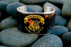 Rustic Cuff  Harry Potter Motif on a gold or silver by RusticCuff, $36.00