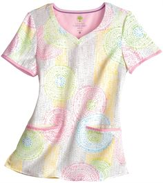 Medical Uniforms and Nursing Scrubs - Healing Hands Citrus Du Soleil Pink Jamie Scrub Top Medical Scrubs, Nursing Scrubs, Cute Scrubs Uniform, Medical Uniforms, Nursing Uniforms, Uniform Advantage, Work Attire, Healing Hands, Work Wear