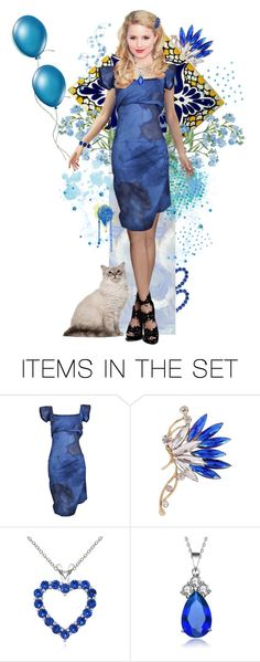 """""""Lady Blue Belle"""" by skpg ❤ liked on Polyvore featuring art"""