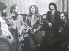 Robert Plant backstage with Little Feat – I'd say this was at one of their Rainbow Theater London shows in early 1977 <3