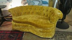 """We are in love with this loveseat--and there are 2!  63"""" long, $245 each Tub Chair, Love Seat, Accent Chairs, Living Room, Furniture, Home Decor, Upholstered Chairs, Decoration Home, Room Decor"""