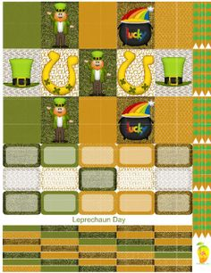 Leprechaun+Day+Planner+Sticker+Set,++super+cute+for+celebrating+the+month+of+March+with+adorable+Lucky+accents.++Print+out+onto+one+8+1/2X11+sticker+paper,+cut+to+size+for+your+personal+Mambi+Happy+Planner™/Erin+Condren™+&+Plum™+sized+and+type+planners.+In+printable+HQ+PDF+format+(image+poor+quality+for+visual+only).+Water+marks+removed+during+print.+Created+by+Staff+Artist+Angel+Koch.++See+terms+and+Use.+Add+to+your+cart+now.++++Mambi+Happy+Planner™/Erin+Condren™,+Plum™,+products+and+co...