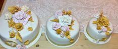 Guld bryllups kake laget av Lisbeth Davidsdatter Storbraaten Haugen.