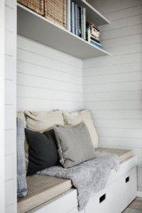 Stauraum unter der Sitzbank - ideal für kleine Räume!