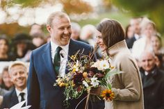 A Sublime Silk Dress and Cashmere Jumper for an Autumn Wedding in Scotland