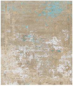 Handmade rectangular rug MYRESJO by HENZEL STUDIO