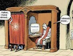 Funny Catholic Priest Confession Facebook Cartoon - Father