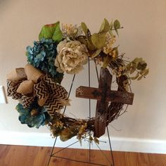A personal favorite from my Etsy shop https://www.etsy.com/listing/265356238/sympathy-wreath-cemetery-wreath