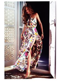 Love a floaty floral maxi dress with a revealing split for the summer | Style | Fashion | Glamour |