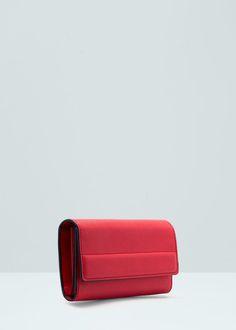 Flap saffiano-effect wallet | MANGO