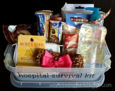 I recently came across Suzy's adorable blog . I love the hospital survival kit  she did, so I decided to try it out for a friend who is du...