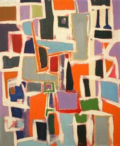 "Frank Stella Abstraction - 1956/57 Oil in masonite 24"" x 19 3/4"" pic.twitter.com/TH0KMTXxXR"