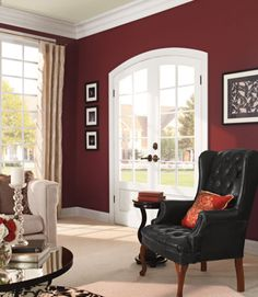 A deep hue—Behr's Twinberry—adds depth to the walls without going overboard. Behr Marquee Interior Paint and Primer is available online now at HomeDepot.com.