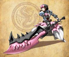Monster Hunter -Pretty in pink by polarityplus on DeviantArt