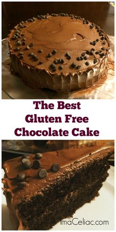 This made from scratch chocolate cake recipe will replace your Gluten Free box m. This made from scratch chocolate cake recipe will replace your Gluten Free box mix Source by imaceliac CLICK Image for full deta. Gluten Free Deserts, Gluten Free Sweets, Gluten Free Cakes, Foods With Gluten, Gluten Free Baking, Dairy Free Recipes, Wheat Free Recipes, Gluten Free Chocolate Cake, Homemade Chocolate