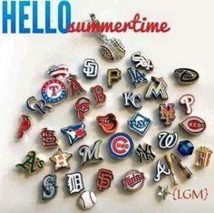 Origami Owl officially licensed Major League Baseball charms  $7 each. www.RebeccaS.OrigamiOwl.com