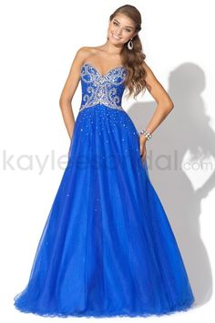 Tulle Sweetheart Beaded Bodice Ball Gown Prom Dress
