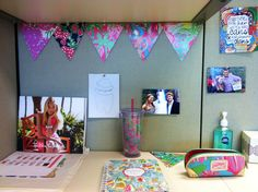 lilly flag banner is a perfect addition to a work space in an office or at home