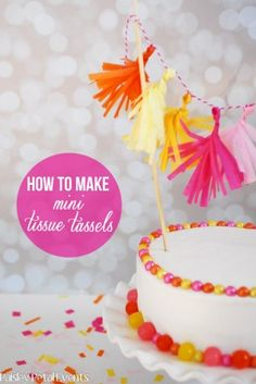 How to make mini tissue tassels