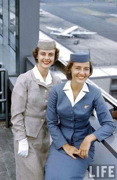 vintage Pan Am 1950 flight attendant uniform - Google Search