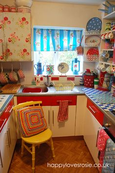 bright vintage kitchen