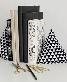Fabric Pyramid Bookends