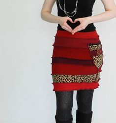 Recycled Sweater Skirt: i want this one! (but maybe i can make something alike)