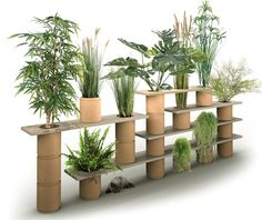 Végétagère, a hybrid plant trellis shelving system composed of modular wood shelves with openings to accept stackable vegetable fiber pots, debuted at last spring's Jardins Jardin, the edgy urban garden design show in Paris's Tuilleries Gardens. Parisian designer Frédéric Malphettes… Read More...