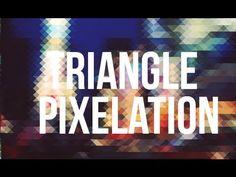 Photoshop Tutorial : Triangle Pixelation Effect [HD]