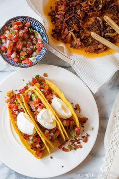 Zesty Bacon Ranch Jalisco Tacos Recipe on ASpicyPerspective...