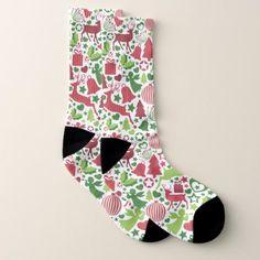 Christmas Montage All-Over-Print Socks - Xmas ChristmasEve Christmas Eve Christmas merry xmas family kids gifts holidays Santa
