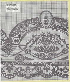 View album on Yandex. Filet Crochet Charts, Crochet Borders, Crochet Motif, Crochet Patterns, Cross Stitch Borders, Cross Stitch Alphabet, Cross Stitch Charts, Crochet Curtains, Crochet Tablecloth