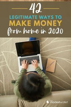 Working from home doesn't have to be a dream. From surveys to rental properties there are endless ideas to make extra money from home. Here are 42 legit ways to make money right from your home! #workfromhome #sidehustle #makemoney