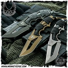 Monkey Edge - Bawidamann Blades: Pogn-L CW Drop Point w/Uber Scabbard Tactical Survival, Tactical Knives, Survival Knife, Survival Gear, Tactical Gear, Pretty Knives, Cool Knives, Knives And Swords, Armas Ninja